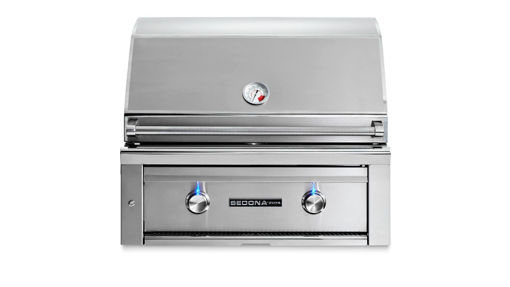 """Picture of 30"""" SEDONA BUILT-IN GRILL WITH ROTISSERIE, 1 PROSEAR INFRARED BURNER AND 1 STAINLESS STEEL BURNER (L500PSR)"""