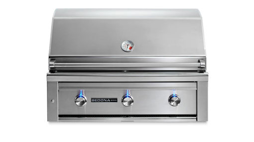 """Picture of 36"""" SEDONA BUILT-IN GRILL WITH 1 PROSEAR INFRARED BURNER AND 2 STAINLESS STEEL BURNERS (L600PS)"""