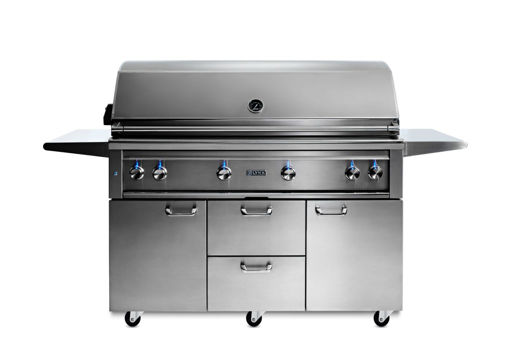 """Picture of 54"""" PROFESSIONAL FREESTANDING GRILL WITH 1 TRIDENT INFRARED BURNER AND 3 CERAMIC BURNERS AND ROTISSERIE (L54TRF)"""
