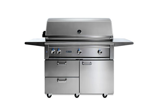 "Picture of 42"" PROFESSIONAL FREESTANDING GRILL WITH 1 TRIDENT INFRARED BURNER AND 2 CERAMIC BURNERS AND ROTISSERIE (L42TRF)"