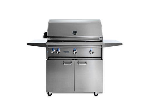 "Picture of 36"" PROFESSIONAL GRILL FREESTANDING WITH ALL TRIDENT INFRARED BURNERS AND ROTISSERIE (L36ATRF)"