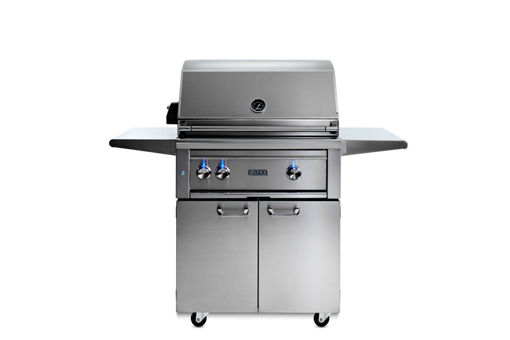 """Picture of 30"""" PROFESSIONAL FREESTANDING GRILL WITH 1 TRIDENT INFRARED BURNER AND 1 CERAMIC BURNER AND ROTISSERIE (L30TRF)"""
