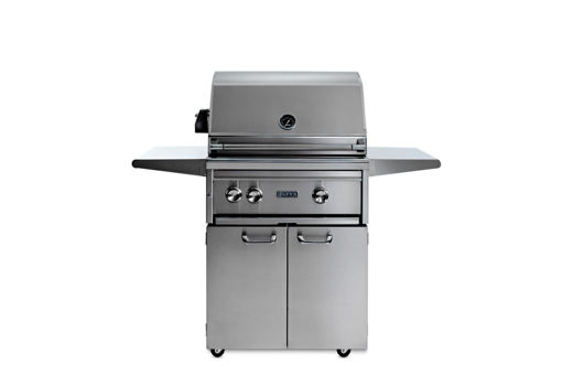 """Picture of 27"""" PROFESSIONAL FREESTANDING GRILL WITH 1 TRIDENT INFRARED BURNER AND 1 CERAMIC BURNER AND ROTISSERIE (L27TRF)"""