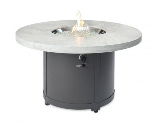 Picture of White Onyx Beacon Chat Height Gas Fire Pit Table