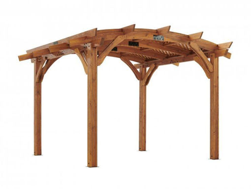 Picture of 12x12' Redwood Sonoma Wood Pergola Kit