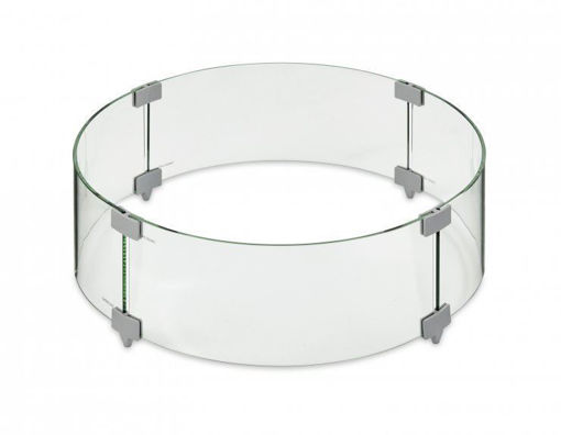"Picture of 20"" Round Tempered Glass Wind Guard"