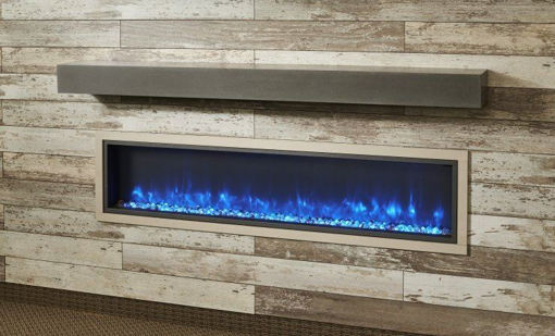 Picture of Non-Combustible Polished Midnight Mist Supercast Modern Mantel
