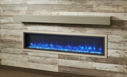 Picture of Non-Combustible Cove Grey Supercast Modern Mantel