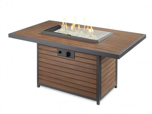 Picture of Kenwood Rectangular Chat Height Gas Fire Pit Table