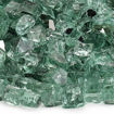"Picture of 1/2"" Evergreen Reflective Fire Glass"