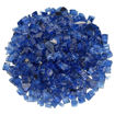 """Picture of 1/2"""" Pacific Blue Reflective Fire Glass"""