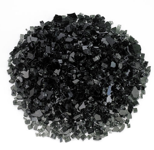"Picture of 1/4"" Black Fire Glass"
