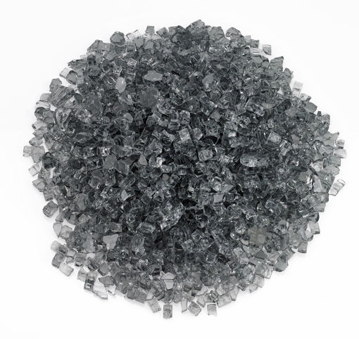 "Picture of 1/4"" Gray Fire Glass"