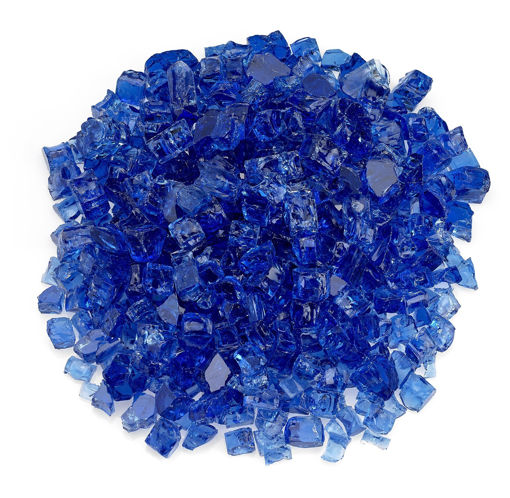 "Picture of 1/2"" Cobalt Fire Glass"