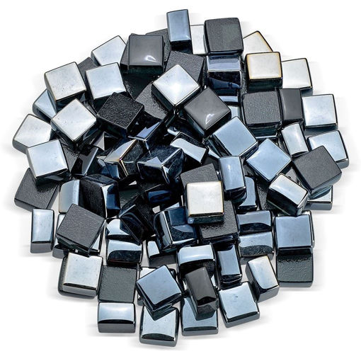 "Picture of 1/2"" Black Luster Fire Glass 2.0"