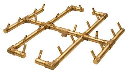 "Picture of CFB250 CROSSFIRE ORIGINAL BRASS BURNER + 36"" Square Plate + 3/4"" Dual Flex Line Kit + FIT180"