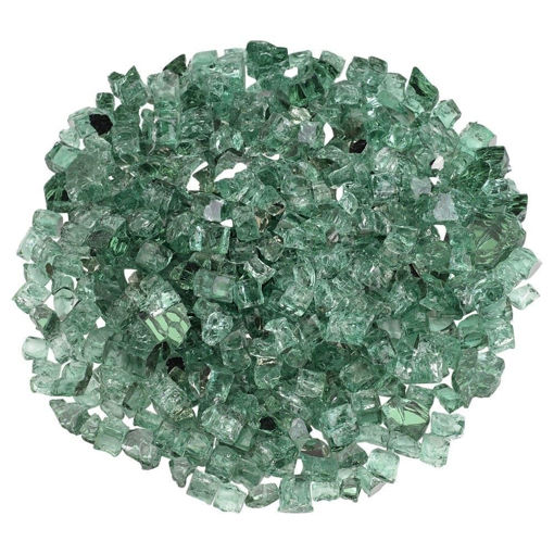 """Picture of 1/2"""" Evergreen Reflective Fire Glass"""