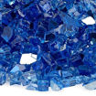 """Picture of 1/4"""" Cobalt Reflective Fire Glass"""
