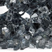 """Picture of 1/4"""" Gray Reflective Fire Glass"""