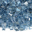"""Picture of 1/4"""" Pacific Blue Reflective Fire Glass"""