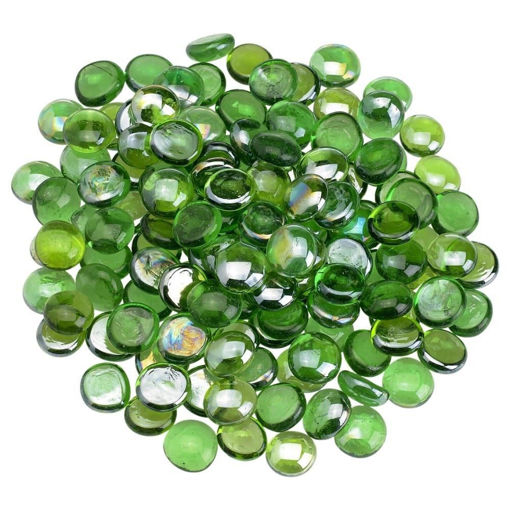 """Picture of 1/2"""" Emerald Green Luster Fire Beads"""